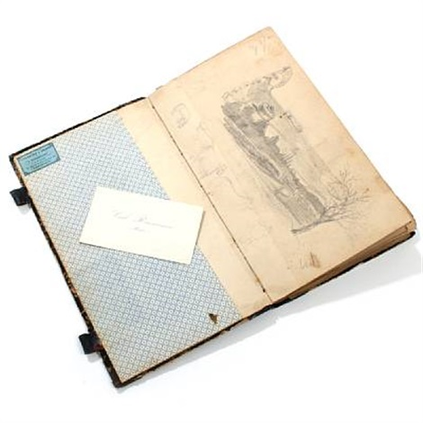 a sketchbook containing 30 drawings and the painters card by carl jens erik c rasmussen