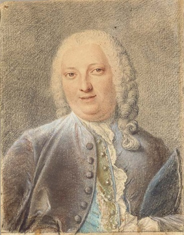 portrait of jacques louis françois roussel marquis de courcy holding a hat by jacques andré portail