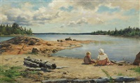 day of july on a shore in finby by fredrik ahlstedt