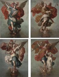 the archangel gabriel (+ 3 others; 4 works) by francisco meneses osorio