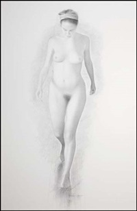 study for nude walking by jeremy smith