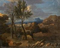 paysage avec la fuite en egypte by sébastien bourdon