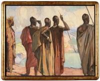 notables tutsi à chipo au-dessus du lac kivu au rwanda by fernand allard l'olivier