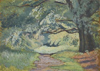 path in epping forest by lucien pissarro