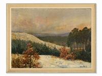 winter landscape by max friedrich rabes