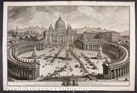 il prospetto principale del tempio e piazza di s. pietro (+ l'interno della basilica vaticana; 2 works) by giuseppe vasi