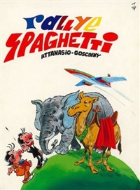 spaghetti (cover for album le rallye de spaghetti) by dino attanasio