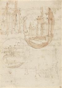 capriccio (architektonische studien) (3 works) by anonymous-italian (18)