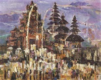temple ceremony; harvesting time (2 works) by putu ngurah wardhana
