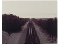 train tracks, colorado desert, california by richard misrach