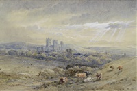 gloucester cathedral (+ the birdlip escarpment; pair) by henry earp