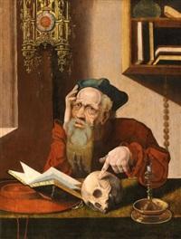 saint jérôme dans son cabinet by marinus van reymerswaele