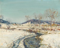 creek in snow by walter emerson baum