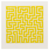 yellow meander by anni albers