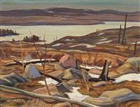 april, faulkenham lake, ontario by alexander young jackson