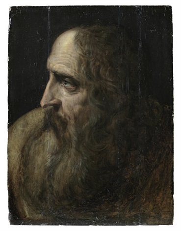 an old man in profile study by jacob adriaensz de backer