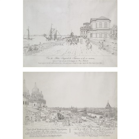views of moscow and st. petersburg (10 works) by gabriel ludwig lory