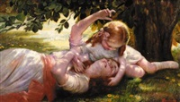mother and child by isaac snowman