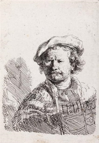 autoportrait au béret by rembrandt van rijn