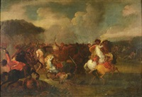 battle scene by francesco giuseppe casanova