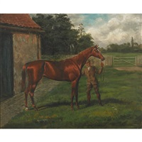 thoroughbred winners, alicante (+ sheen; pair) by alfred charles havell
