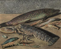 poissons et crustacé by gino severini