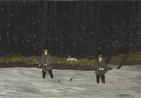 fishing in the brandywine: early fall by horace pippin