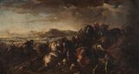 scontro di cavalleria tra turchi e cristiani by salvator rosa
