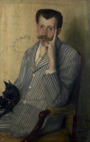 portrait de georges porto riche by jacques emile blanche