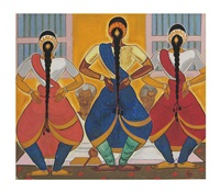 bharat natayam dancers (south india) by shiavax chavda