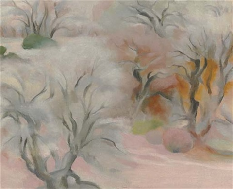 trees abiquiu iv by georgia okeeffe