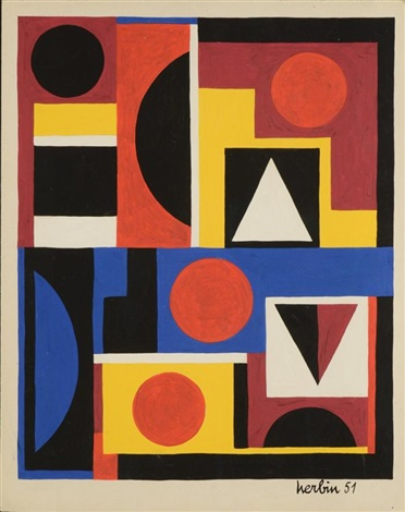 geometric composition by auguste herbin