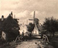 a village scene by georgius heerebaart