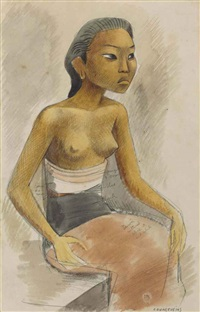untitled (balinese woman) by miguel covarrubias