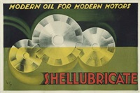 shellubricate by posters: advertising - shell oil