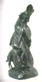 woman with whippet by gleb derujinsky