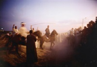 jabalowe on roma at horse show, luxor by nan goldin