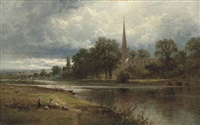 holy trinity church, stratford-upon-avon by benjamin williams leader