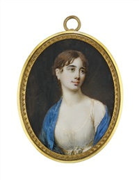 a young lady in décolleté white dress by frederik christian camradt