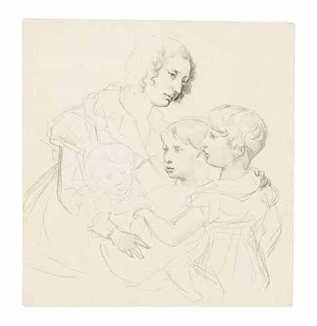 a young mother and her three children by théodore géricault