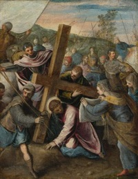 christ on the way to calvary by jacopo robusti tintoretto