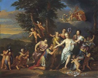 mars paying homage to venus by gerard hoet the elder