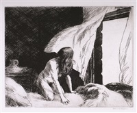 the evening wind by edward hopper