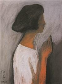 禱 (praying) by liu gengyi