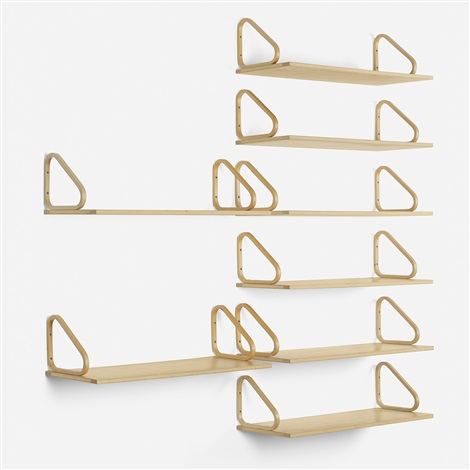 wall shelves set of 8 by alvar aalto