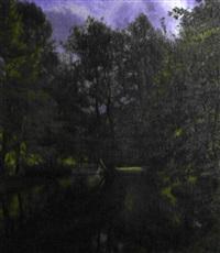 barque sur l'étang by hans julius faester