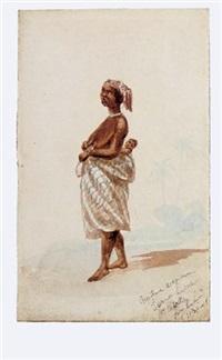 native woman, sierra leone by john thomas baines