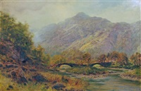 landscape with bridge by samuel lawson booth