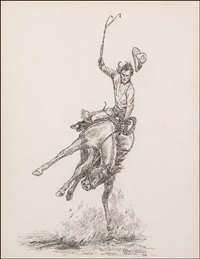 bucking bronc by will james
