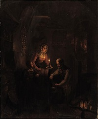 a family by candlelight by george gillis van haanen